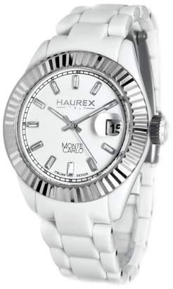 Haurex Italy Women's PW360DWP Monte Carlo Stainless Steel Bezel Magnified Date Watch