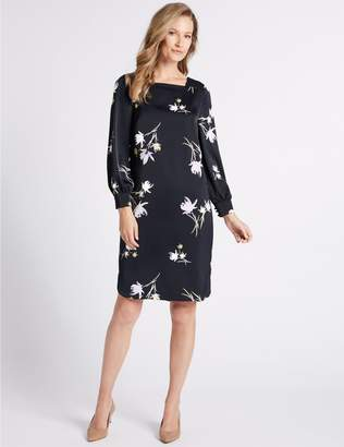 Marks and Spencer Floral Print Long Sleeve Shift Dress
