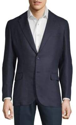 Brioni Textured Long-Sleeve Jacket