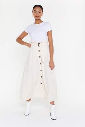 Nasty Gal Button Down Maxi Skirt