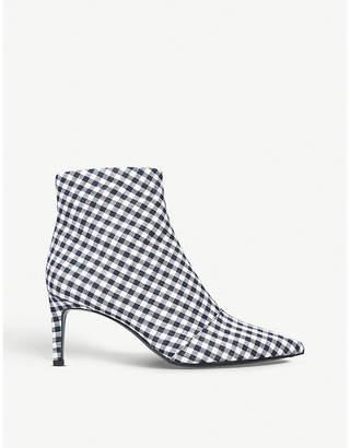 Rag & Bone Beha gingham-print ankle boots
