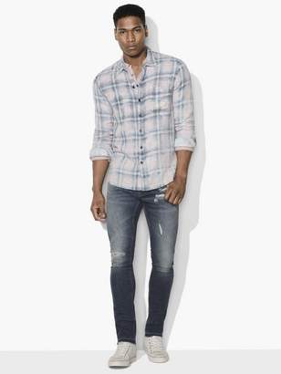 John Varvatos Reversible Plaid Shirt