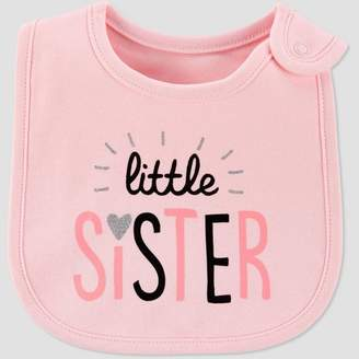 Carter's Just One You made by carter Baby Girls' Family Love 'Little Sister' Bib - Just One You® made by Pink