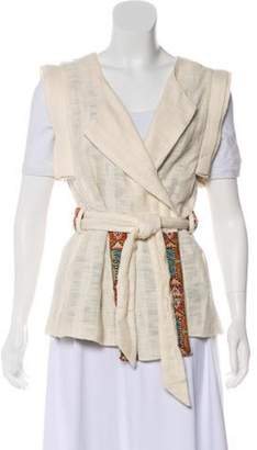 Camilla Wrap Short Sleeve Vest w/ Tags multicolor Wrap Short Sleeve Vest w/ Tags