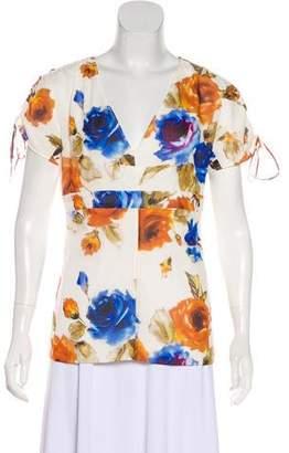Dolce & Gabbana Silk-Blend Floral Blouse