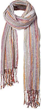 Fat Face Festival Stripe Fringe Scarf, Multi