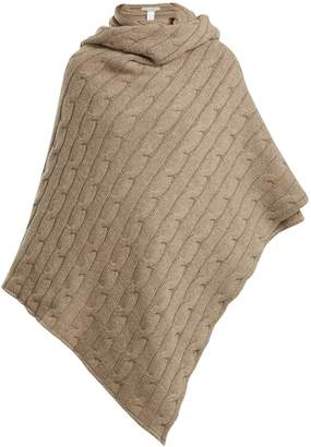 QUEENE AND BELLE Aspen cable-knit cashmere wrap