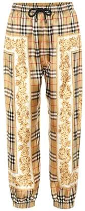 Burberry Vintage Check silk trackpants