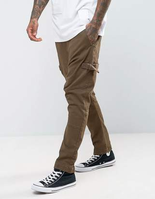 Asos Design Drop Crotch Joggers With Taping In Brown