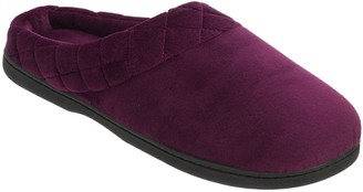 Dearfoams Microfiber Velour Clogs with QuiltedCuff