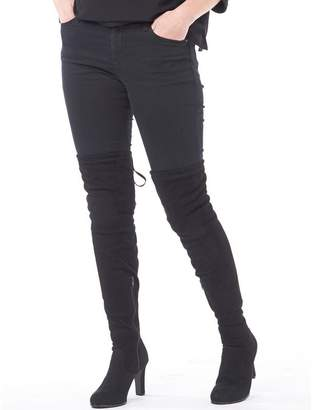 Feud Womens Over The Knee Boots Black