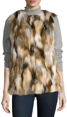 Love Token Faux-Fur Vest, Multi $129 thestylecure.com