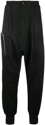 Lost & Found Rooms zipped drop crotch joggers