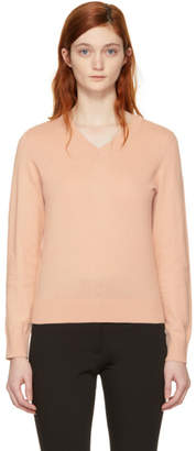 A.P.C. Pink Edina V-Neck Sweater