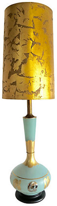 One Kings Lane Vintage Frosted Art Glass Abstract Lamp - Jacki Mallick Designs