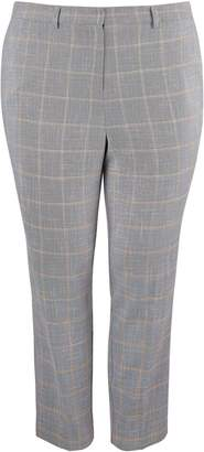 Dorothy Perkins Womens **Dp Curve Grey Check Print Elastane Ankle Grazer Trousers
