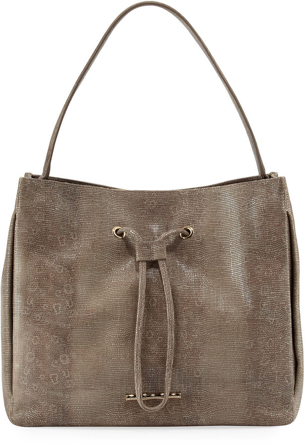 Elaine Turner Hudson Embossed Shoulder Bag, Gray