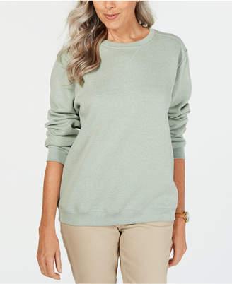 Karen Scott Long-Sleeve Crewneck Sweatshirt