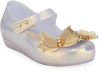 Mini Melissa Ultragirl Special Butterfly Mary Jane Flat, Toddler