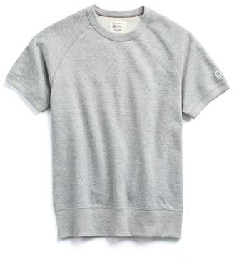 Todd Snyder + Champion Short Sleeve Sweatshirt in Light Grey Mix