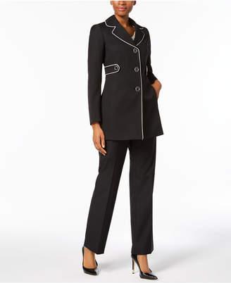 Le Suit Piped Three-Button Pantsuit