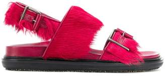 Marni fur trimmed fussbett sandals