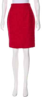 Christian Lacroix Tweed Knee-Length Skirt