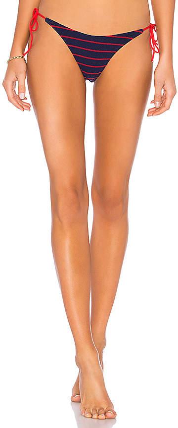 Ginger Tie Side Terry Brief Bikini Bottom