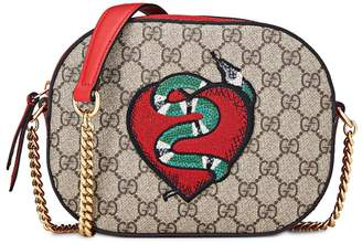 7a252420158 Gucci Limited Edition GG Supreme Canvas Snake Mini Chain Bag