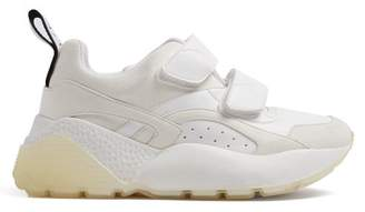 Stella McCartney Eclypse Low Top Contrast Panel Trainers - Womens - White