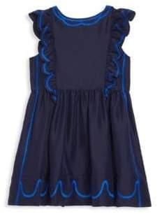 Burberry Little Girl's& Girl's Silk Pinafore Dress