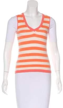 Loro Piana Cashmere Stripe Pattern Vest