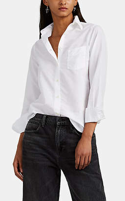 Officine Generale Women's Benoit Slub Cotton Poplin Shirt - White