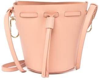 Zac Posen Belay Mini Drawstring Leather Bucket Bag