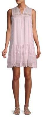 Rebecca Taylor Striped Lace Dress