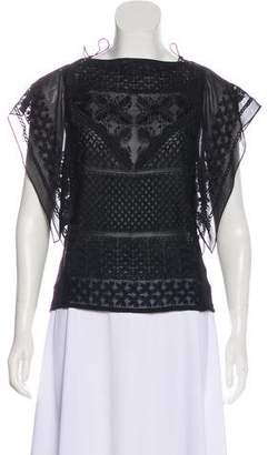 Isabel Marant Silk Embroidered Top