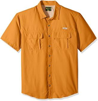 G.H. Bass & Co.. Men's Big and Tall Short Sleeve Fancy Explorer Solid Shirt