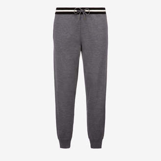 Bally Cotton Knit Lounge Trousers Grey, Men's cotton knit trousers in grey