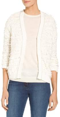 St. John Tufted Knit Cardigan