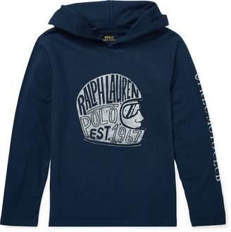 Ralph Lauren Cotton Hooded Graphic T-Shirt