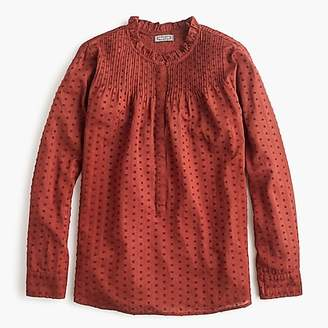 Point Sur ruffle classic popover shirt in clip dot