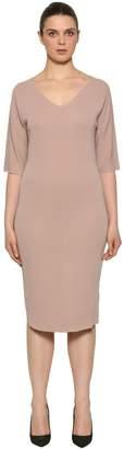 Marina Rinaldi V Neck Wool Knit Dress