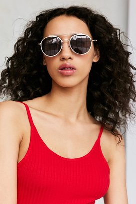Urban Outfitters Slim Round Brow Bar Sunglasses $18 thestylecure.com