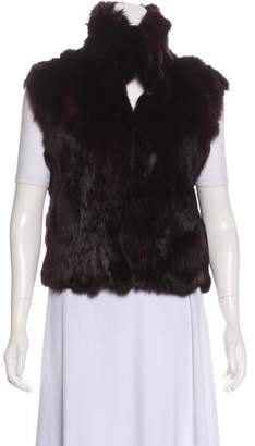 Adrienne Landau Fur Hook-And-Eye Vest