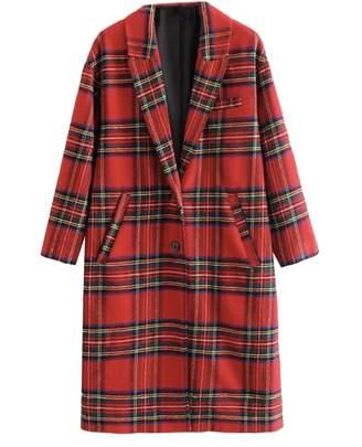 Goodnight Macaroon 'Saeed' English Plaid Lapels Coat