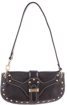 MICHAEL Michael Kors Michael Kors Embellished Leather Shoulder Bag