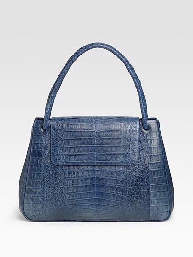 Nancy Gonzalez Large Top Handle Crocodile Bag