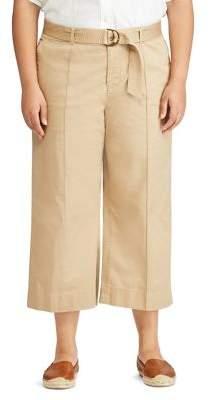 Lauren Ralph Lauren Plus Wide Leg Cropped Pants