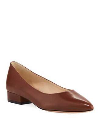 Cole Haan Vesta Grand Leather Skimmer Flats, Cherry Mahogany