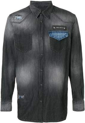 Frankie Morello Tatton denim shirt